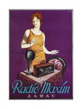 Radio Maxim Poster Giclee Print by Otto Ernst