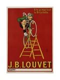 J.B. Louvet Bicycles Poster Giclée-Druck von D'Apres Mich