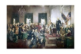 Scene at the Signing of the Constitution of the United States Giclee Print