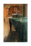 Young Girl at a Grand Piano Giclée-Druck von Carl Larsson