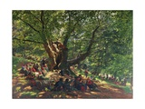 Robin Hood and His Merry Men in Sherwood Forest Giclee Print by Edmund George Warren