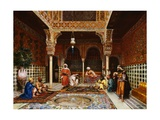 Gunsmiths at the Palace of Alhambra, Granada Giclee Print by Filippo Baratti