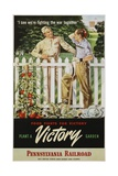 Food Fights for Victory, Plant a Victory Garden Poster Giclee Print