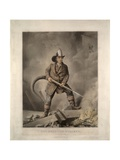 The American Fireman: Facing the Enemy Giclee Print by  Currier & Ives
