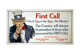 First Call Poster Giclee Print by James Montgomery Flagg