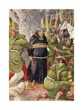 The Abbot of Saint Maries Taken by Robin Hood Book Illustration Giclee Print by Walter Crane