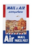 Air Mail Parcel Post Poster Giclee Print by Melbourne Brindle