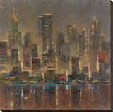 City Stage II Stretched Canvas Print by  Longo