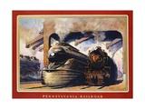 Pennsylvania Railroad, Ready to Go! Stampa giclée di Grif Teller