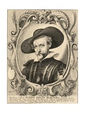 Portrait of Peter Paul Rubens Giclee Print by Wenceslaus Hollar
