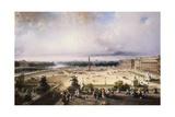 Place De La Concorde, Paris Giclee Print by Carlo Bossoli