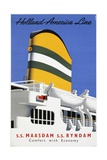 Holland America Line, Comfort with Economy Poster Giclee Print by Reyn Dirksen