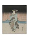 A Geisha on an Evening Stroll in Fukagawa Giclee Print by Utagawa Toyokuni