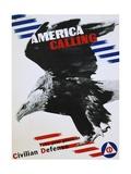 America Calling Poster Giclee Print by Herbert Matter
