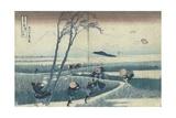 Katsushika Hokusai - A Sudden Gust of Wind Digitálně vytištěná reprodukce