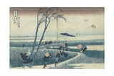 A Sudden Gust of Wind Giclee Print by Katsushika Hokusai