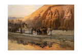 Temple D'Aboo Simbel, La Fete Du Pharoan Giclee Print by Frederick Arthur Bridgman
