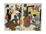 Two Acts from the Series the Treasury of the Loyal Retainers (Chushingura) Giclee Print by Kitagawa Utamaro