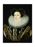 Portrait of Elizabeth Stafford, Lady Drury Giclee Print by Sir William Segar