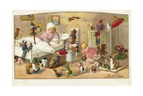 Postcard of Toys Waking a Little Girl Giclee Print by Pauli Ebner