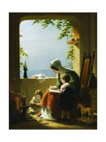Mother's Lessons, Amalfi Giclee Print by Robert Walter Weir