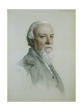 Portrait of Robert Browning Giclee Print by Frederick Sandys