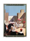 Le Maroc Par Marseille Poster Giclee Print by Maurice Romberg