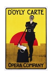 D'Oyly Carte Opera Company Poster Giclee Print by Dudley Hardy