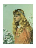 Adele: Portrait of Miss Adele Donaldson Giclee Print by Frederick Sandys