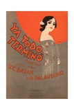 Ya Todo Termino Tango Music Sheet Cover Giclee Print by Leopoldo Metlicovitz