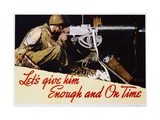 Let's Give Him Enough and on Time Poster Impression giclée par Norman Rockwell