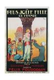 La Plus Jolie Fille De France Poster Giclee Print by Candido de Faria