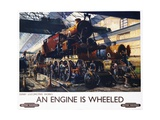 An Engine Is Wheeled Railroad Advertisement Poster Giclee Print by Terence Tenison Cuneo