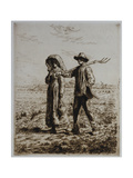 The Departure for Work Giclee Print by Jean-François Millet