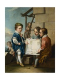 The Four Arts: 'Architecture' Giclée-Druck von Charles Andre Van Loo