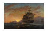Merchantmen Off the Indian Coast at Dusk, 1867 Giclee Print by Charles Henry Seaforth