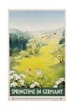 Springtime in Germany Poster Giclee Print by Dettmar Nettelhorst