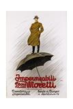 Impermeabili Moretti Umbrella Poster Giclee Print by Leopoldo Metlicovitz
