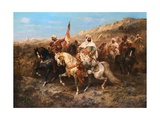 A Regal Procession Giclee Print by Adolph Schreyer