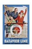 Batavier Line Travel Poster Giclee Print by Allan Harker