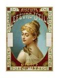 Biscuits Lefevre-Utile Poster Reproduction procédé giclée par A.J. Chantron