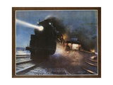 Pass in the Night, the Twentieth Century Limited of the New York Central Lines Poster Giclee-trykk av W.H. Foster