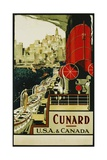 Cunard Usa and Canada Poster Giclee Print