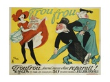 Frou Frou Poster Giclee Print by Maurice Vertes
