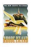 Rhode Island Poster Giclee Print by Ben Nason