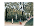 Luxembourg Gardens, Monument to Chopin Giclee Print by Henri Rousseau