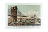 The Great East River Suspension Bridge Giclee Print by  Currier & Ives