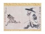 Shoki and Demon Giclee Print by Sakaki Hyakusen and Yosa Buson