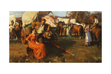 Wagon Train Giclee Print by John Hoffman