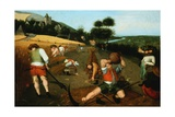 Summer: Peasants Harvesting Wheat in a Landscape Giclee Print by Abel Grimmer